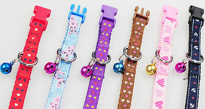 Adjustable Nylon Pet Puppy Dog Collar With Buckle&Clip Strap for Lead Leash