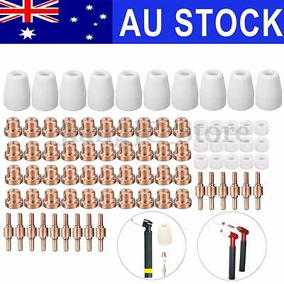 80pcs Plasma Cutter Consumable Tips For LG-40 PT-31 Cutting Torch CUT40 CUT50 AU