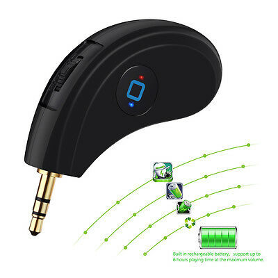 Bluetooth 4.0 CSR Music Receiver Adapter Built-in Mic AUX 3.5mm Car Audio Dongle