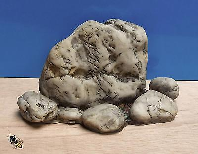 Pebble Stone Aquarium Ornament Realistic Rock Effect Fish Tank Decoration New