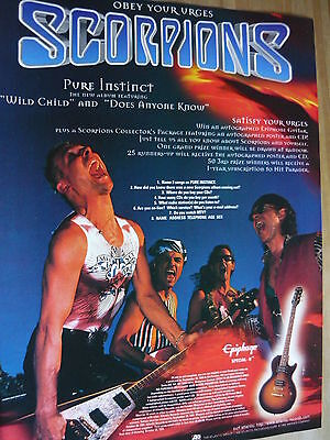 Scorpions - Magazine Cutting (Full Page Advert) (Ref R11)