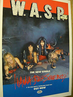 W.a.s.p. - Magazine Cutting (Full Page Advert) (Ref N6)