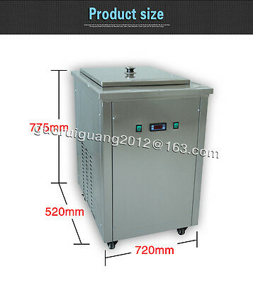 commercial ice pop machine,stainless steel single mould ice lolly machine
