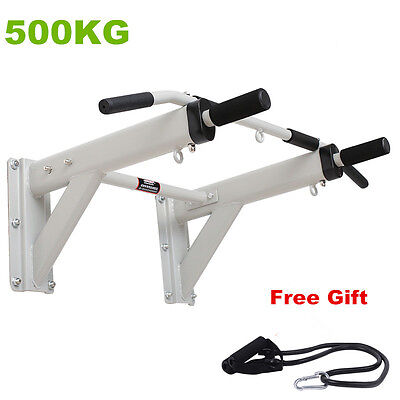 Home force training wall horizontal bar fitness pull up bar with resistance band
