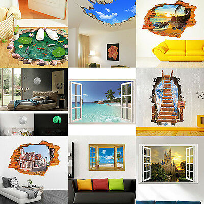 3D Family DIY Removable Sky Art Vinyl Wall Stickers Decal Mural House Kids Decor