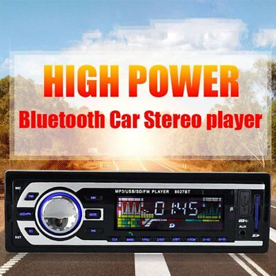 Car In-Dash Stereo Audio FM Aux Input Receiver SD USB MP3 Radio Player 8027BT