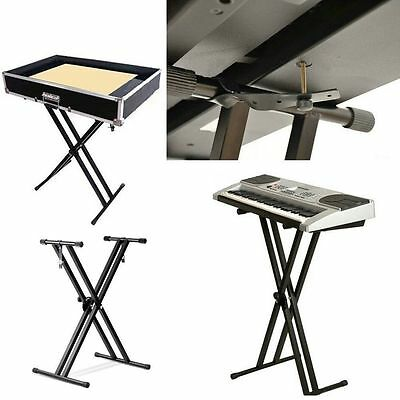 Music Piano X Frame Keyboard Stand Rack With Strap Folding Portable Adjustable