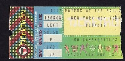1978 Blondie concert ticket stub Palladium NY Parallel Lines Debbie Harry