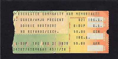1979 Doobie Brothers Concert Ticket Stub Rochester Michael McDonald Real Love