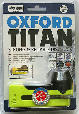 Oxford OF51 Titan Strong And Reliable Disc Lock - Yellow