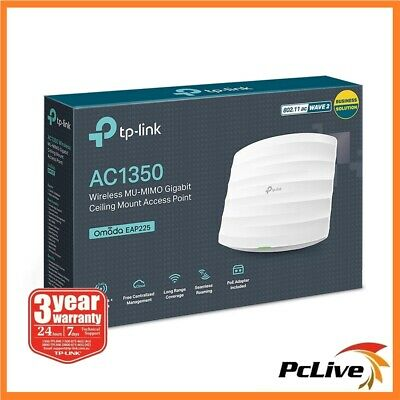 NEW TP-Link EAP225 V3 AC1350 Wireless Dual Band Gigabit Ceiling Access Point POE