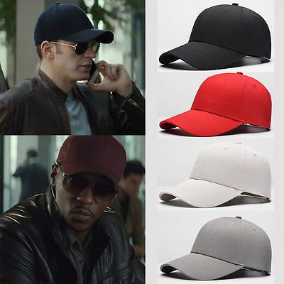 Unisex Men Women Blank Baseball Cap Plain Bboy Snapback Hats Hip-Hop Adjustable