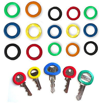 Circular Key Caps Coloured Covers Plastic Rubber Top Cap Tag Door Identifier