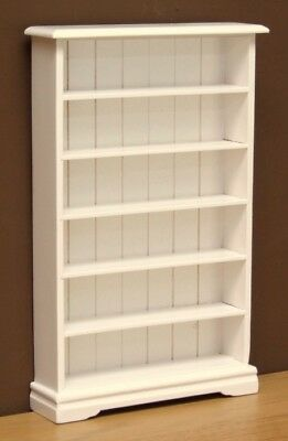 1:12 Dolls House Bookcase with 6 shelves -White