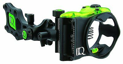 New IQ Retina Lock Micro Bow Sight 5 Pin (.019) Archery Compound RH Black