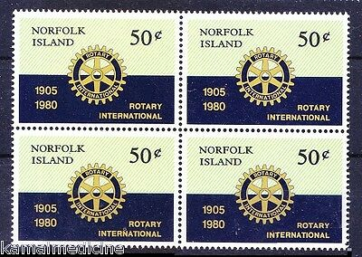 Rotary International, MNH Blk of 4, Norflok Island  -  Ro10
