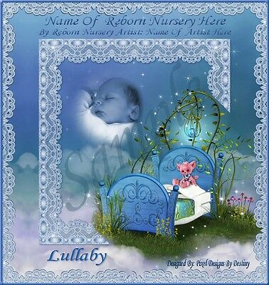 ~~Lullaby Boy Reborn Baby Auction Template With/without Music & Free Logo~~Doua