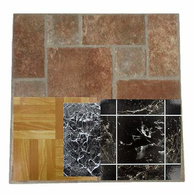 4pcs Wood Vinyl Floor Tiles Self Adhesive Stick on House Bathroom Kitchen