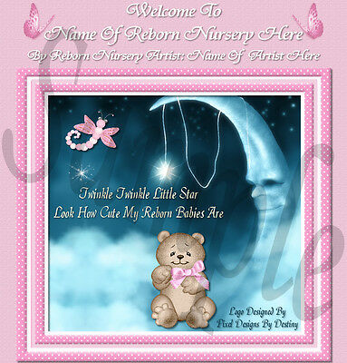 Little Star Girl Reborn Baby Auction Template With Music &  Free Logo+Birth Cert