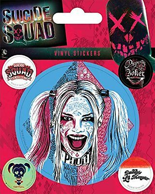 Suicide Squad Harley Quinn Sheet of Vinyl Stickers NEW