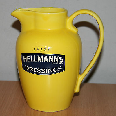 RARE Enjoy HELLMAN'S DRESSINGS WADE Collectable Yellow Jug Vintage Kitchen