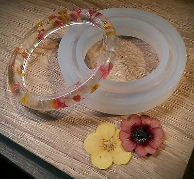 Jewellery making bangle bracelet silicone mold resin mould craft small