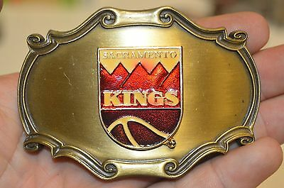 Vintage Sacramento Kings Logo 1980s ARCO ARENA Basketball NBA Belt Buckle Rare