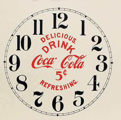 New Coca-Cola Paper Clock Dial - Choose A Size & Style!