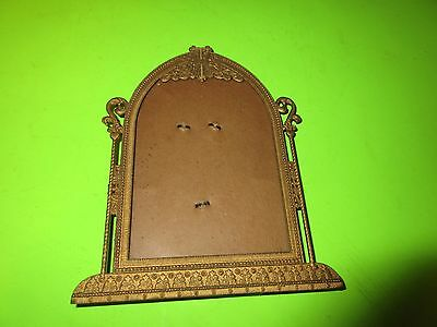 Vintage Ornate  Brass Table Stand Picture Photo Frame (Ps6)