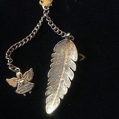 Christmas  Gift For Someone Special A Feather And Guardian Angel Charm Keyring