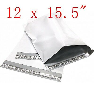 "12 x 15.5"" Poly Mailers Shipping Envelope Plastic Bags, 2.35 Mil, 1 100 500 1000"