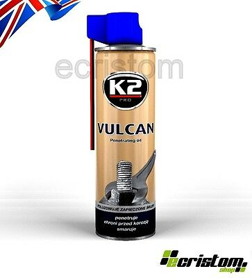 K2 VULCAN PENETRATING OIL Release Spray Corroded Rusted RUST Bolts Nuts Screw