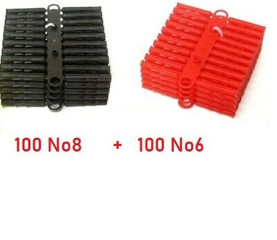 360 x Assorted Wall Plugs Heavy Duty Raw Rawl Fixings Red Yellow Brown