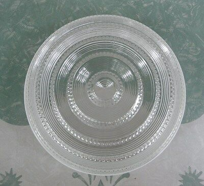 Vintage Retro Kitchen Round Banded Glass Drum Ceiling Light Fixture Cover