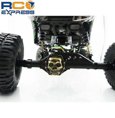 Hot Racing Axial RR10 Bomber Antique gold Metal Skull Diff Cover WRA12CT14