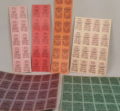 Lot of c.1920's Pictou County Electric Co. Unused Trolley & Bus Tickets NOS
