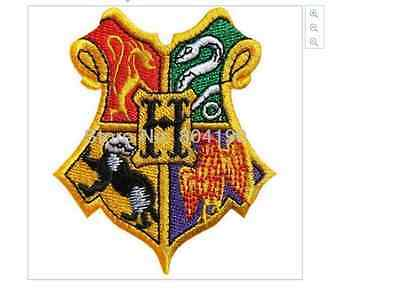Harry Potter Hogwarts embroidery patch 6.6 x 7.8cm  Slytherin Gryffindor