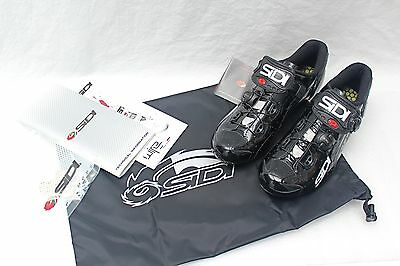 Sidi Wire Carbon Vent EU 39 US 6 Black Road Cycling Shoes NEW in BOX FREE S&H