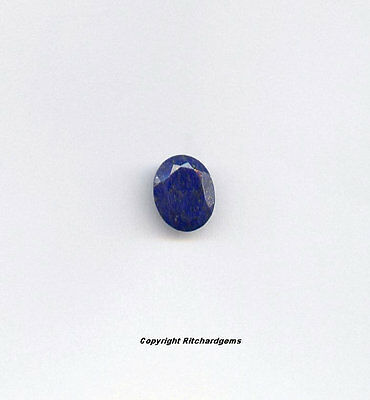 Semi Precious 10x8 MM Afgan Lapis Faceted Oval cut AAA for One