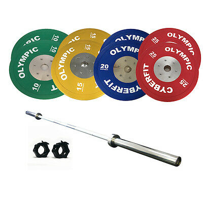 Olympic Weight Set 160kg Bumper with 1000lb Bar