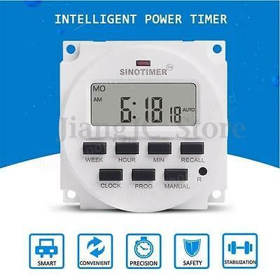 12V - 220V 16A Digital LCD Display Programmable Power Time Timer Relay Switch AU