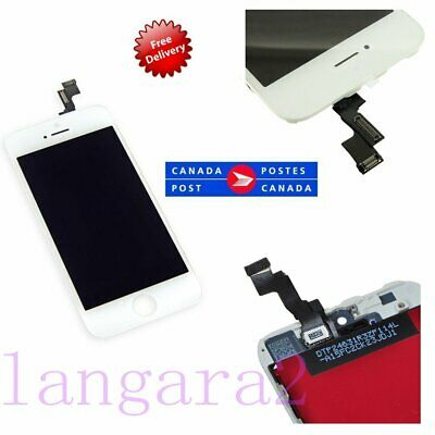 New White LCD Touch Screen Digitizer Glass Assembly  Replacement for iPhone5S CA
