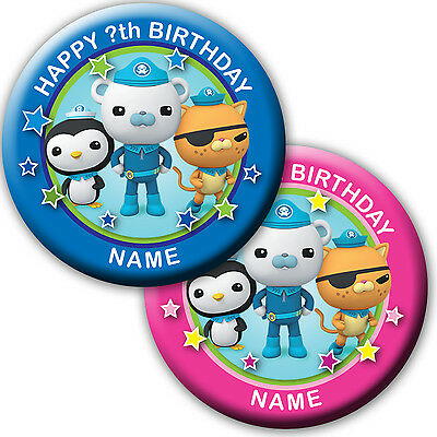 PERSONALISED OCTONAUTS BIRTHDAY BADGE/ MAGNETS/MIRRORS 58MM or 77MM