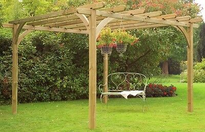 Garden Pergola Wooden Outdoor Patio Roses Climbing Sturdy Attractive Structure