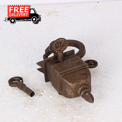 4 Keys Iron Tricky / Puzzle Iron Pad Lock Collectible 1303