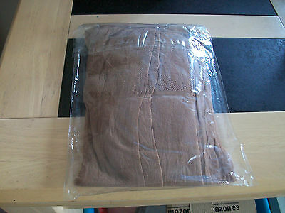 VINTAGE A pair of 15 denier shiny tights with lycra TAN reinforced toe  £1.25