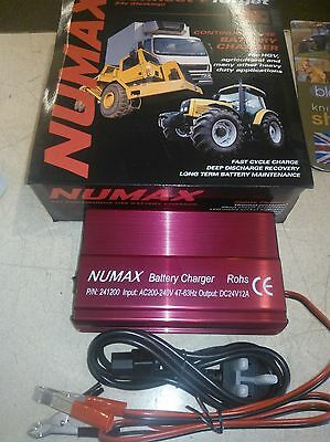 24 Volt 12 Amp Numax Battery Charger Connect And Forget Automatic Charger
