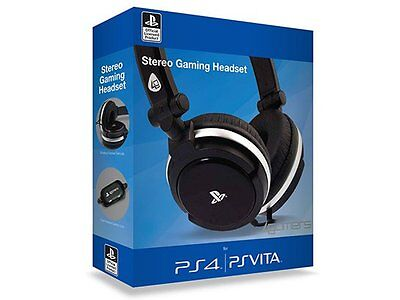 Officially Licensed Stereo Gaming Headset  Black Sony PS4 PS Vita New Uk