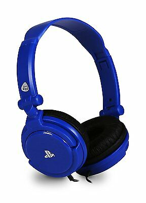 Officially Licensed Stereo Gaming Headset - Blue (Sony PS4 PS Vita) New Uk