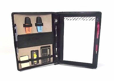 A5 black leather folder organiser portfolio (style 249) designed for auditors